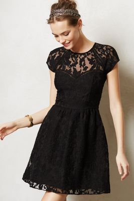 Black lace dress-- perfect for any holiday party.