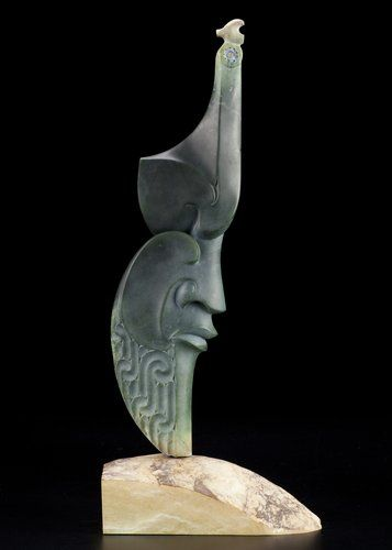 'Hine te iwa iwa'  Guardian of the Female Form by Lewis Tamihana Gardiner