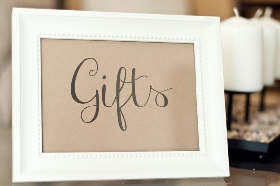 Wedding Gift Table Signage : Gift Table SignWedding or Party table signage
