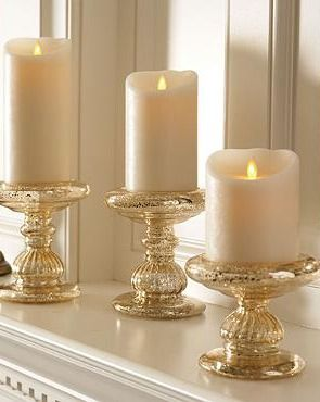 Perfect for your mantle or accent table, the Battery-operated Dream Candles with Remote Control  bring elegant holiday cheer to your home.