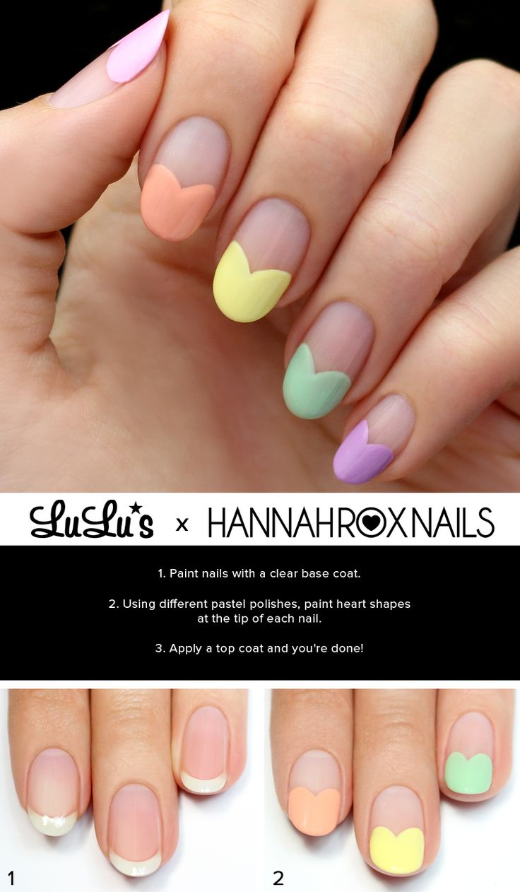 Mani Monday: Candy Heart Tips Nail Tutorial