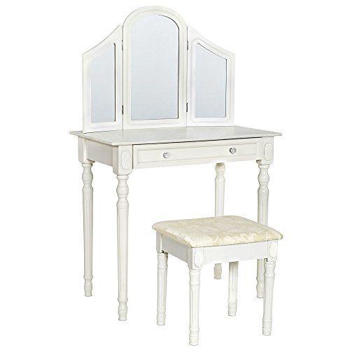TecTake Comò specchiera bianca con sgabello tavolino da trucco mobile da toletta TecTake http://www.amazon.it/dp/B00N0P1858/ref=cm_sw_r_pi_dp_8hMVwb0BQ0D4T