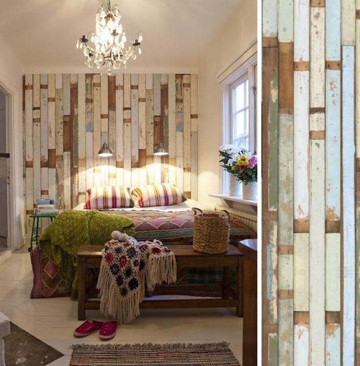 Papier peint scrapwood nlxl chambre papier peint - Papier peint trompe l oeil pour chambre adulte ...