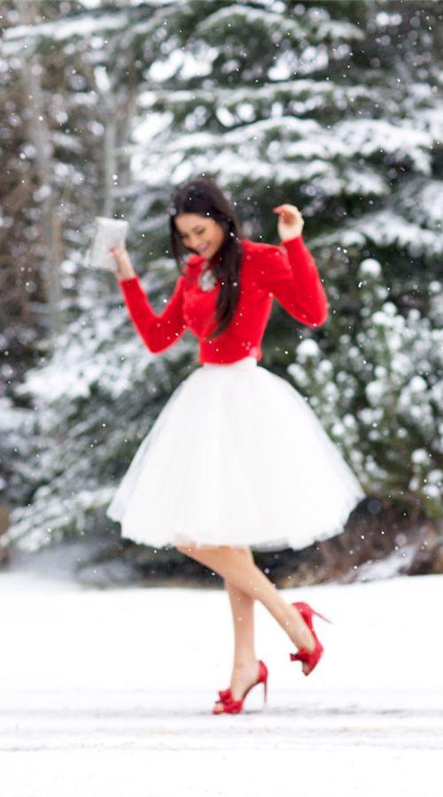 Dressed for a dreamy Christmas- so pretty