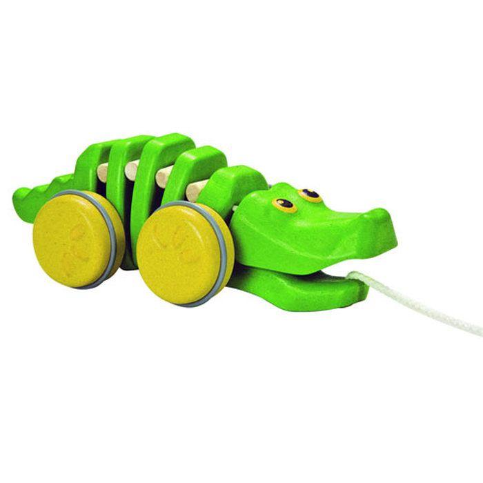 【プラントイの木のおもちゃ】Plantoys引っ張るおもちゃダンシングアリゲーター2【お誕生日】3歳:女【ポイント10倍】【spr10P05Apr13】