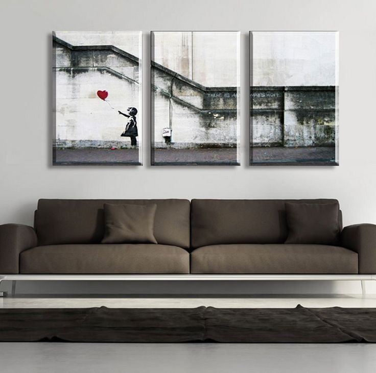 Amazon.com - Hot Sell 3 Panels 50 x 70 cm Modern Wall Painting Large Banksy Picture Home Decorative Art Picture Paint On Canvas Prints -