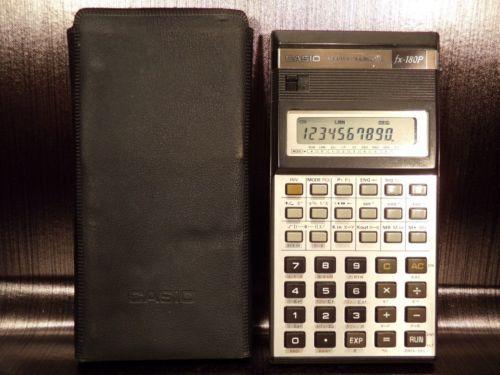 Calculatrice-scientific-calculator-CASIO-FX-180P-1985-Japan-retro