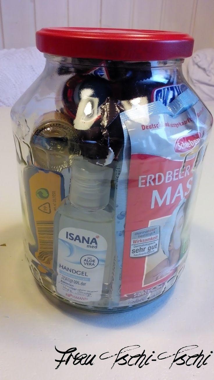 DIY Party Geschenk im Glas gift in a jar selber machen Überlebenspaket Überlebes-Set Survival survivalkit mums