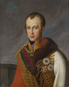 Ferdinand I was Emperor of Austria, President of the German Confederation, King of Hungary and Bohemia as well as associated dominions from the death of his father on 2 March 1835, until his abdication after the Revolutions of 1848. Ferdinand was incapable of ruling his empire because of his mental deficiency, so his father, before he died, drafted a will promulgating that he consult Archduke Louis on every aspect of policy, and urged him to be influenced by  Metternich