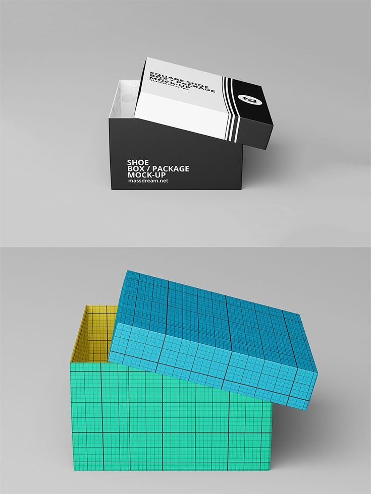 Download Free Square Shoe Box Package Mockup Free Premium Fonts Packaging Box Packaging