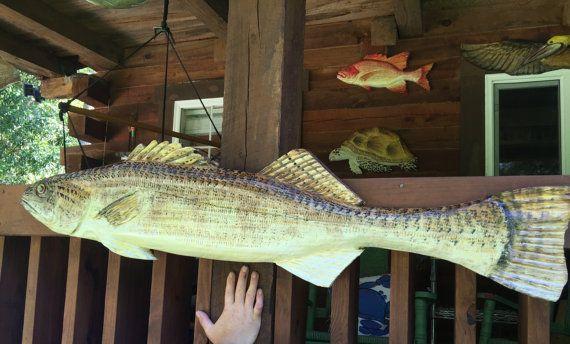 Leucomas peces talla 50 mano motosierra madera por oceanarts10