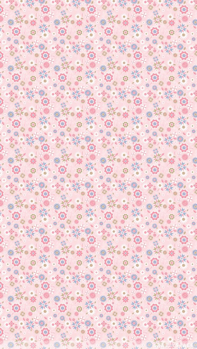 Pink Floral Background iPhone 5S Wallpaper.