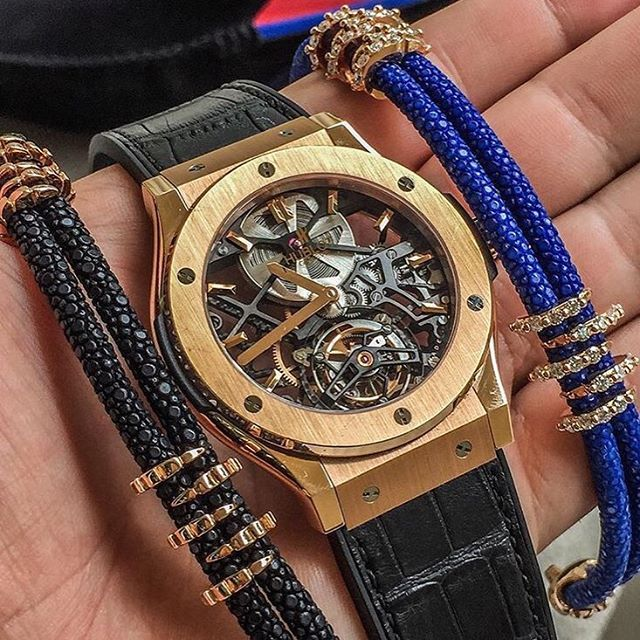 Stinghdblue X stinghdblack X Hublot Classic fusion tourbillon = I think you 'lol love these things. #hublot#classicfusion#rosegold#tourbillon#stinghd#blue#black#diamonds#richardmille#rolex#iwx#panerai#bovet#patekphilippe#audemarspiguet#laferrari#royaloak#lambo#aventador#bugatti#bentley#astonmartin#offshore#instalike#likeforlike#summer#dollowforfollow#love by thewatchartclub