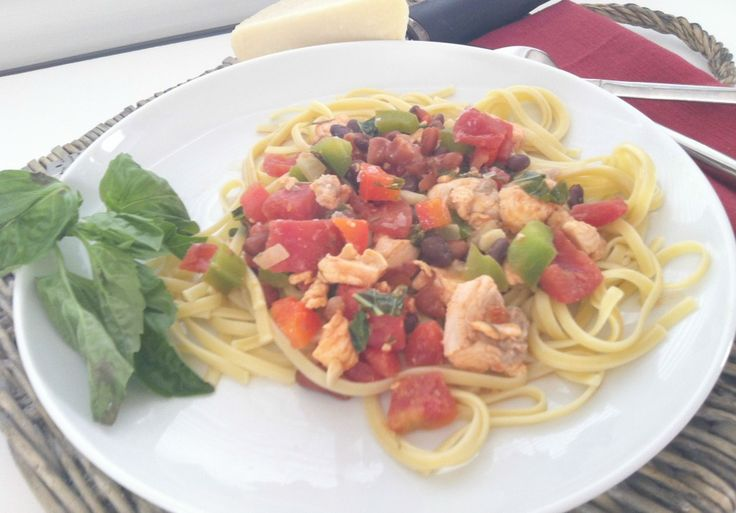 Salmon Linguine {Mom's Kitchen} - A Cedar Spoon