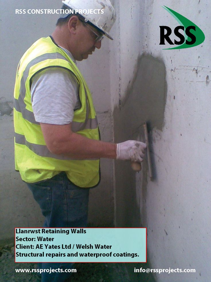 Structural Repairs and Waterproof Coatings. http://www.rssprojects.com/Case Studies/llanrwst-retaining-walls