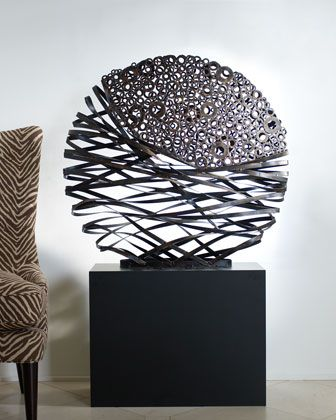 Ovoid Sculpture & Pedestal by John-Richard Collection at Horchow.