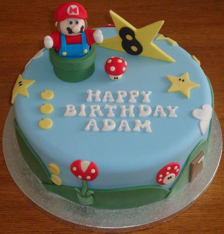 Adorable Super Mario Birthday Cake!
