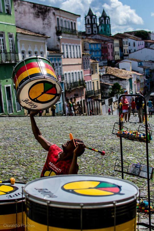 Brazil Wonders Tambores do Pelourinho l Salvador, Bahia, Brazil, Brasil (by opontes)