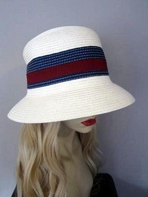 "Straw-colored #Panama Hat  Hair Length: 18"" Wavy  Hair Color Pictured: Natural Blonde #22 (6 Colors Available) High quality synthetic fiber."