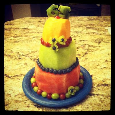 Real Fruit Birthday Cake