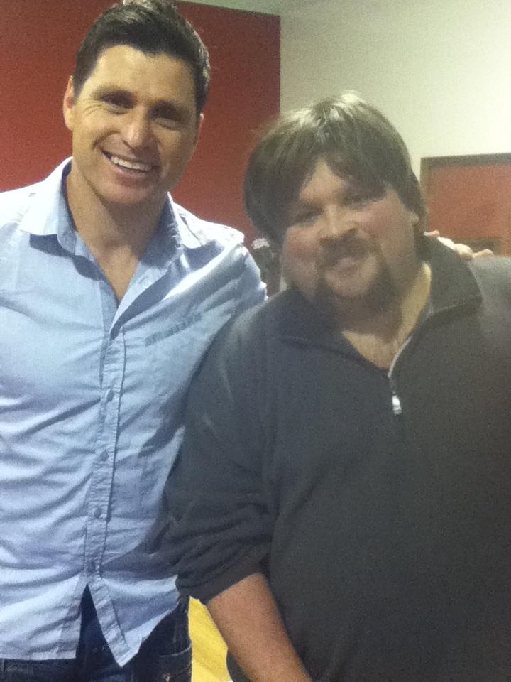 ben meeting shane crawford..  july 30, 2011