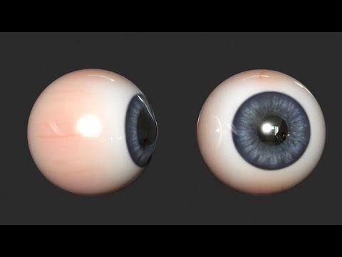 Modeling an Eyeball - 3DS Max - YouTube