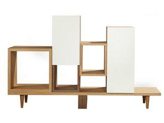 Librería abierta de chapada en madera WILD - AZEA