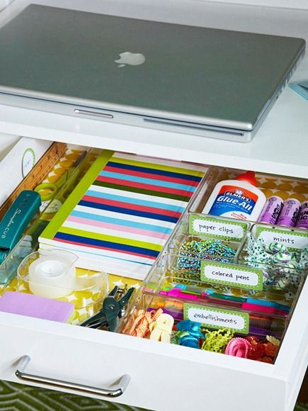 an office drawer (small space solutions)