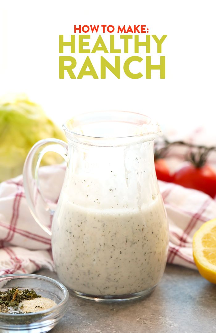 It's hard to find dressing without a long list of ingredients. This post will teach you How to Make Homemade Healthy Ranch and you'll never head to the grocery store for dressing again!