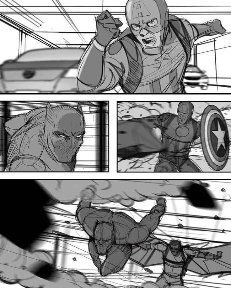 Captain America: Civil War! Tony Liberatore drew some stunning frames for the Marvel film!