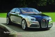 Bugatti 16C Galibier -- The Galibier, a 1000 HP sedan, was first shown as a concept in 2010 and when put into production, will cost about $ 1.4 million. It will use a 16-cylinder engine that can run on both biofuel and gasoline, and will bring back the dual-clutch gearbox. Production will require facilities in Molsheim, France, to be refitted, which may push back deliveries until 2013 or 2014.