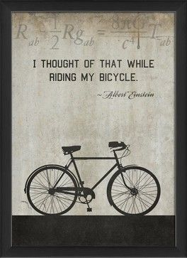 Bicycle Einstein Framed Artwork - contemporary - Novelty Signs - The Artwork Factory