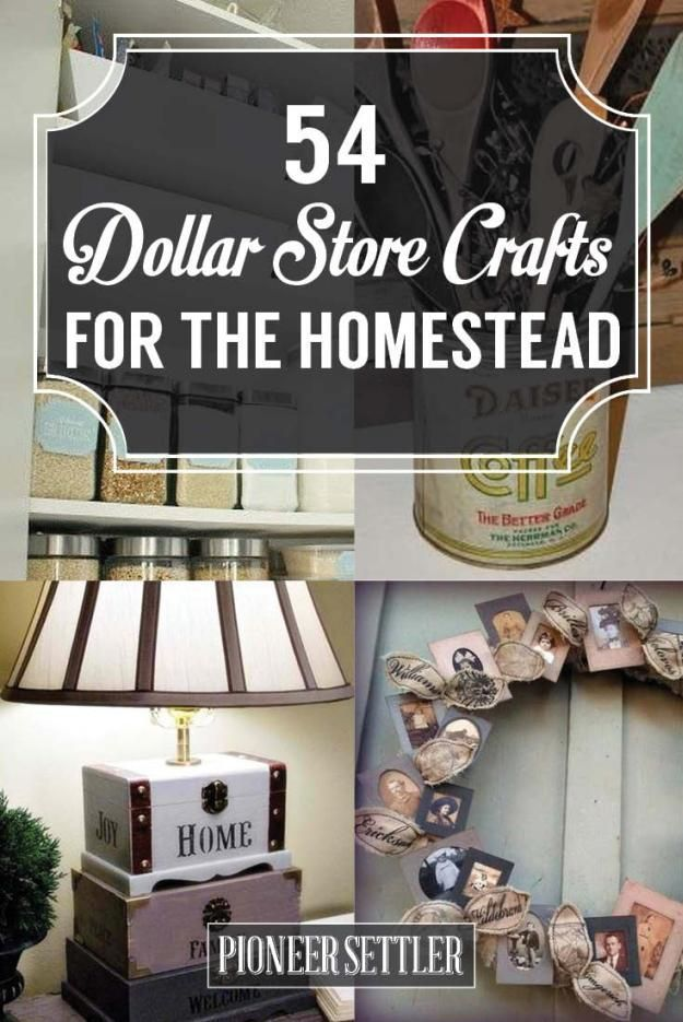 54 Dollar Store Crafts For Homesteading Ideas | Cool and Easy DIY Projects For The Home and More by Pioneer Settler at http://pioneersettler.com/dollar-store-crafts/