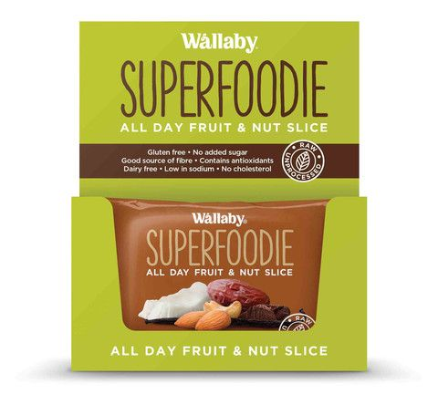 Wallaby - Gluten Free - All Day Fruit and Nut Slices - Cappuccino Cacao