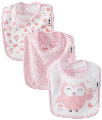 Black Friday Gerber Baby-Girls Newborn 3 Pack Terry Owl Dribbler Bib, Owl  Pink, One Size from Gerber Cyber Monday