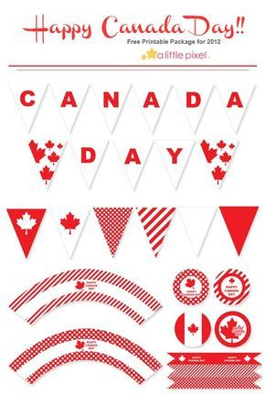 free canada day printables i served my mission in canada so ill pin