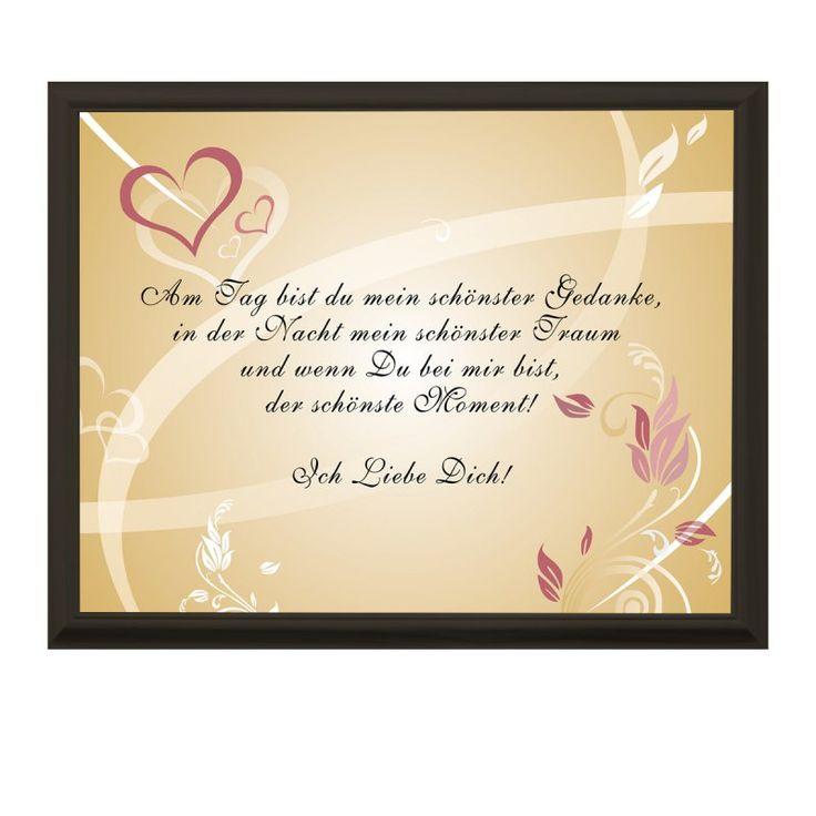 Romantische Liebeserklärung - Romantischer Liebesbeweis mit Personalisierung und Swarovski-Kristallen - Liebeserklärung mit Rahmen und deinem Foto