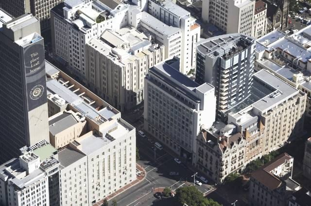 Aerial view, Mandela Rhodes Place, Wale Street, Cape Town