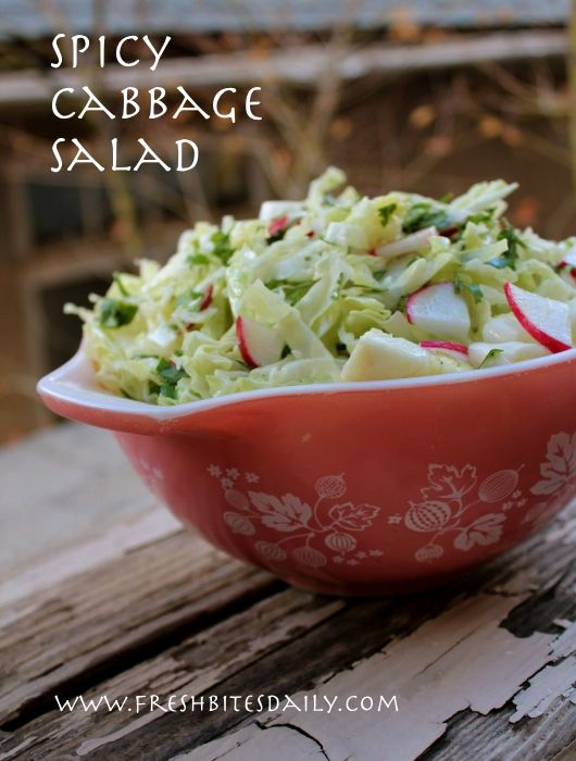 This cabbage salad is light, bright, and fresh with a delicate combination of flavors  #21dsd #cabbage #salad