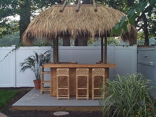 8u0027 X 12u0027 Tiki Bar Kit With Heavy Weave Bamboo Plywood Facings And Solid