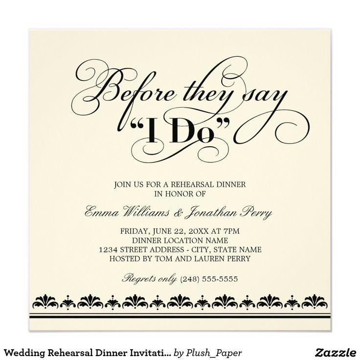 25+ best ideas about rehearsal dinner invitations on pinterest, Wedding invitations