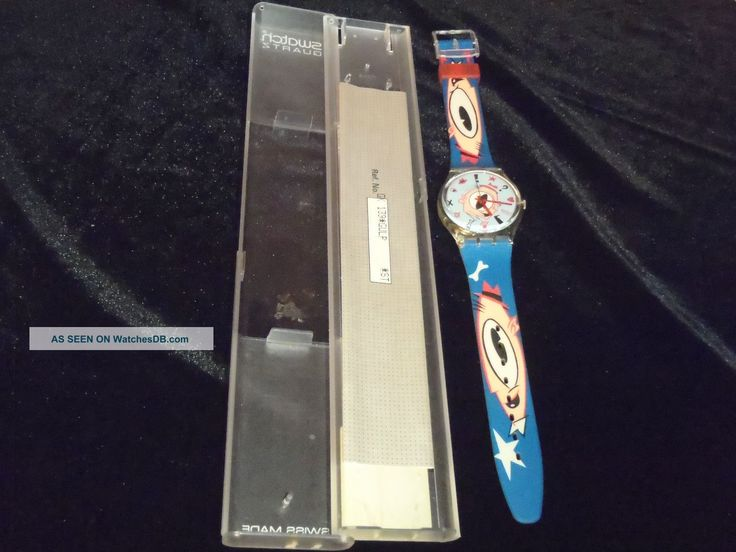 "90s swatch watches | 1990 Swiss Made Swatch Watch Gk139 "" Gulp "" By Massimo Giacon Nib Rare"