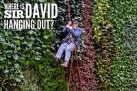 Sir David Attenborough abseils down building bearing his name