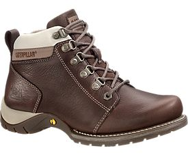 Carlie Steel Toe Work Boot, Chocolate