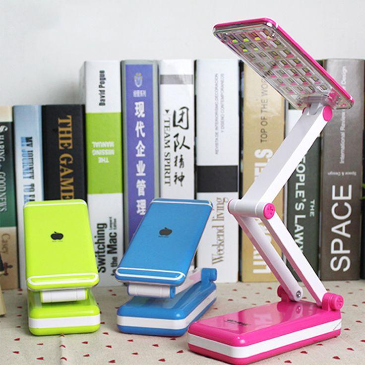 reading KM6686 rechargeable LED lamp eye students work folding mini dorm bed reading book light #Affiliate