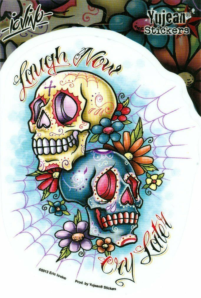 Details about Eric Iovino FAB LAUGH NOW CRY LATER, Tattoo