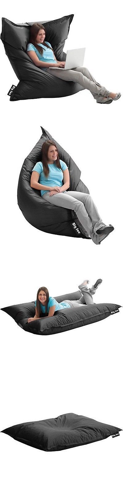 Bean Bags and Inflatables 108428: Big Joe Bean Bag Original Stretch Large Cozy Chair Gaming Lounger Limo Black New -> BUY IT NOW ONLY: $52.71 on eBay!