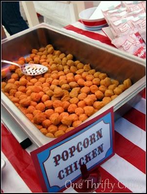 Carnival Party - Serve Popcorn Chicken