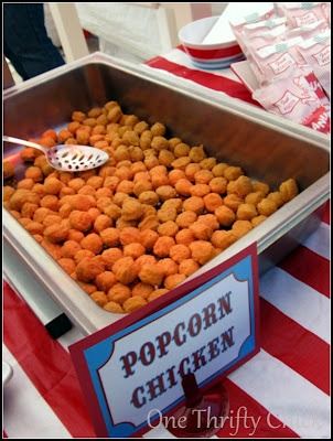 Carnival Party - Serve Popcorn Chicken