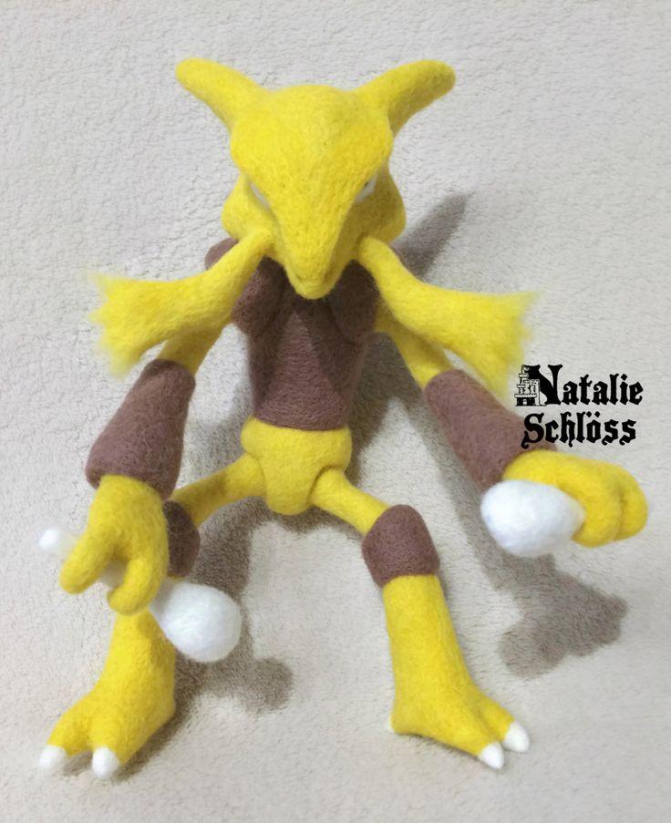 Pokemon Alakazam 21 cm by NatalieSchlossGifts on Etsy